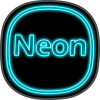 Neon icon pack ligth Blue theme  top to 2019 Giveaway