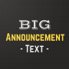 Shout Screen - Big Text Announcements Giveaway