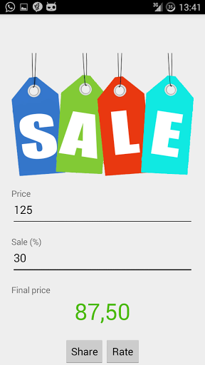 android giveaway of the day sale price calculator