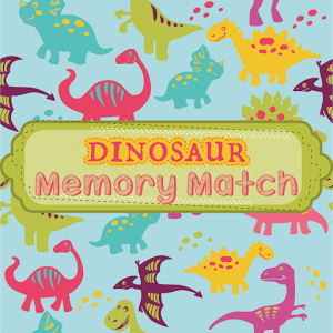 Dino Memory Match Giveaway