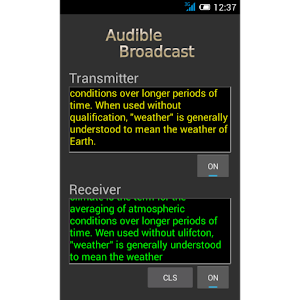 Audible Broadcast text to sound walkie-talkie Giveaway