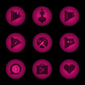 Radial Glow Pink Icons Giveaway