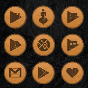 Wooden Radial Icons Giveaway