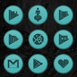 Wooden Radial Teal Icons Giveaway