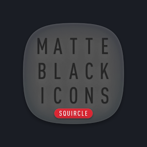 Matte Black SQUIRCLE Icons Giveaway