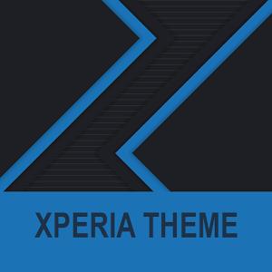 Xperia Theme - Dark Paper Blue Giveaway