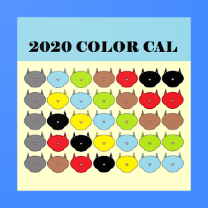 2020 ColorCal USPS Blue C Coded carrier calendar Giveaway