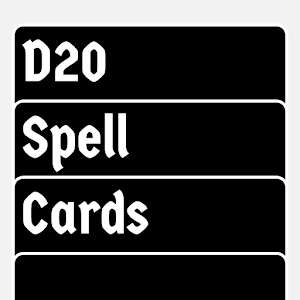 D20 Spell cards Giveaway