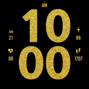 Gold Digital Watch Face Giveaway